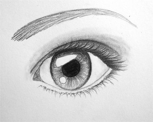 comment dessiner une yeux